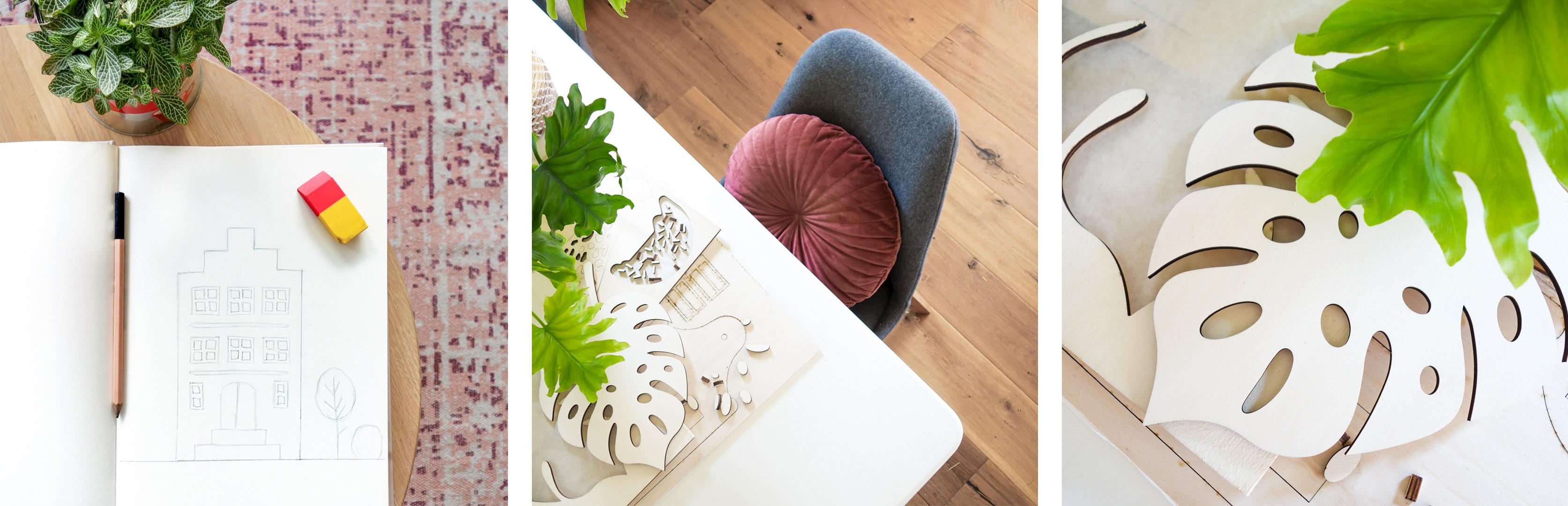 Het creatieve proces van Made by the Woods, design label voor interieurproducten.